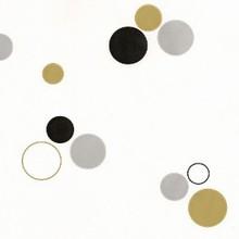 58cirgs Sachet cercles or, argent et noir