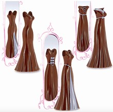 DRCP034 Curvy Dress Chocolate Injector Mold