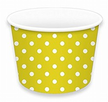 Ice cream container yellow polka dots no 3
