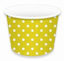 Contenant creme glacée jaune no 2