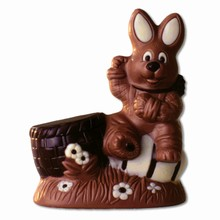 HB0563PC Bunny with Egg & Basket