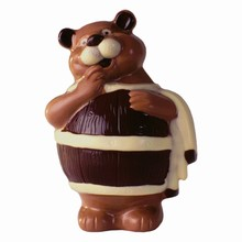 hb0613 Sauna bear with barrel