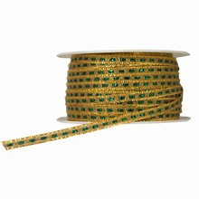RN313 Sparkly Gold and Green Thin Ribbon