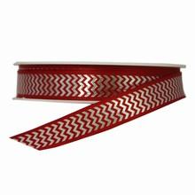 RN327 Red and Silver Herringbone Twinkle Ribbon