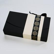 ANTB108 Boîte écrin noire et crème 8ct