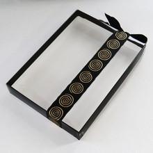 CRYBR Boîte artisan noir couvercle crystal