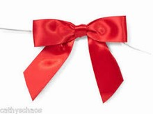 bow161 boucles satin rouge