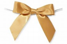 bow163 Vintage gold satin bows
