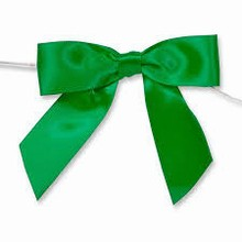bow165 Emerald green  satin bows