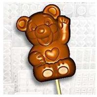drc2464 Teddy bear lolly mold