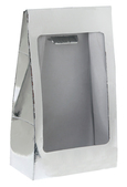 4973s Metallic silver standing pouch