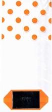 Orange Dot Cellophane Bag