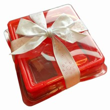 13-4R Thermoformed red 4ct box