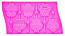 01ROS Silicone cupcake lollipop mold
