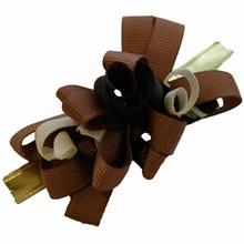bow149 Grosgrain chocolate colors bow