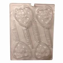 V252 Heart lollipop mold