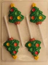 C182 Christmas tree lollipop mold