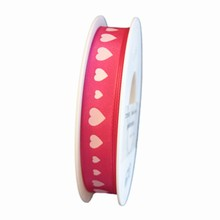 R1239 pink ribbon with light pink hearts