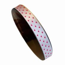 va46 white ribbon with pink hearts