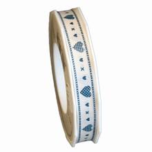 r1234, Ruban coeur bleu,15mm