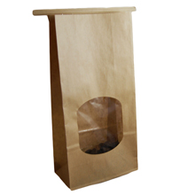 711XWR Kraft Paper Bag with Window