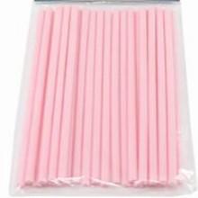 p6pk50 Pink paper sticks 6in