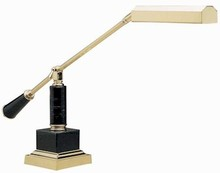 Polished Brass w/ Black Marble Base Counter Balance Piano Lamp by House of Troy