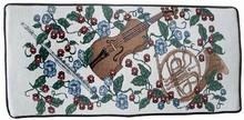 Violin & Horn Designer Piano Bench Cushion