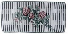 Keyboard & Roses Designer Piano Bench Cushion