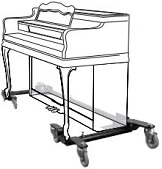 Adjustable Spinet & Console Upright Piano Moving Dolly